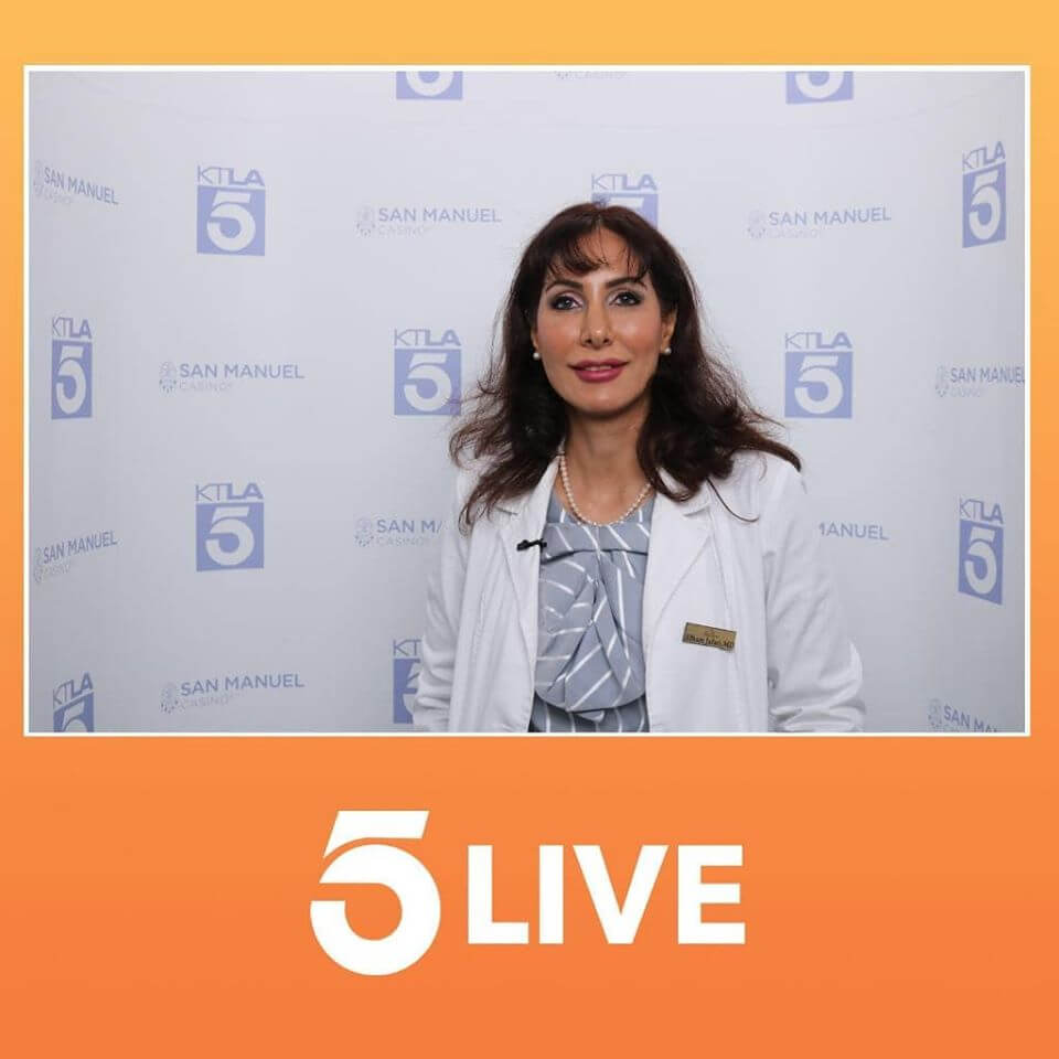 Dr. Jafari was featured live today on KTLA and she performed 4D Under Eye Lift procedure and discussed Liquid Facelift and other related procedures to restore rejuvenated look with natural results.